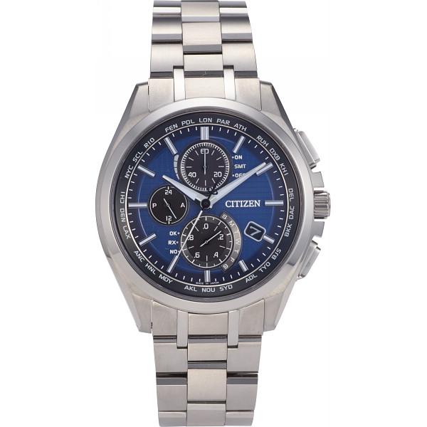 158bf0a491 シチズン シチズン アテッサ ダイレクトフライト メンズ電波腕時計ブルー ...
