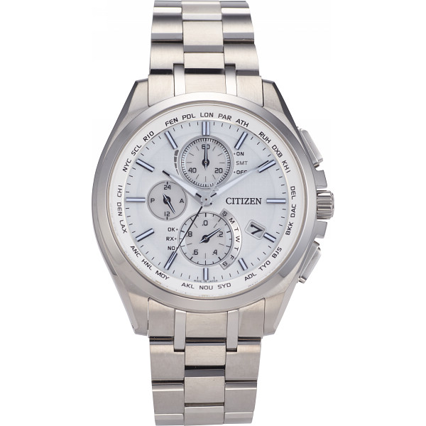 2c70c2cbda シチズン アテッサ ダイレクトフライト メンズ電波腕時計 シルバーの商品画像