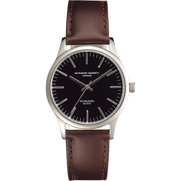timeless design 0009e 35285 キャサリン ハムネット アプライドインデックス腕時計, ブラック
