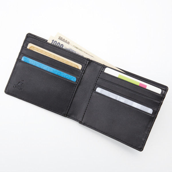 promo code f4e42 8ad1a カンゴールスポーツ 折財布, ブラック