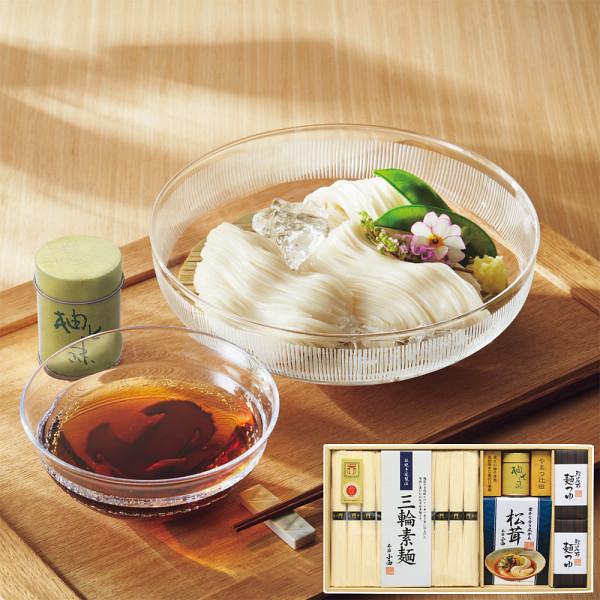 やまつ辻田柚七味で食べる三輪素麺