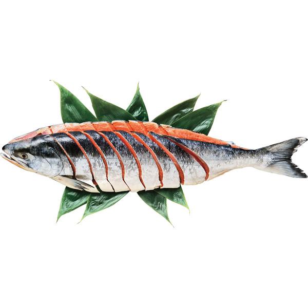 日高太平洋沖産 銀毛色新巻鮭切身L(姿・1.6kg)